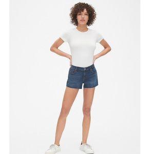"""NWOT Gap Mid Rise 3"""" Denim Jean Shorts"""